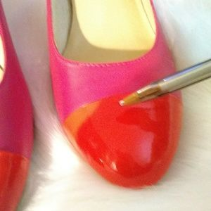 Kate Spade New York Shoes - Kate Spade New York sz 8.5 M pink & Red round Toe